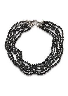 Carolee Gotham Multi Row Beaded Necklace