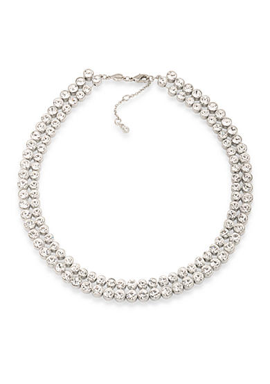 Carolee Silver-Tone East Side Collar Necklace