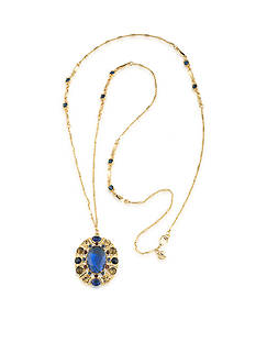 Carolee Gold-Tone Nine to Five Long Pendant Necklace