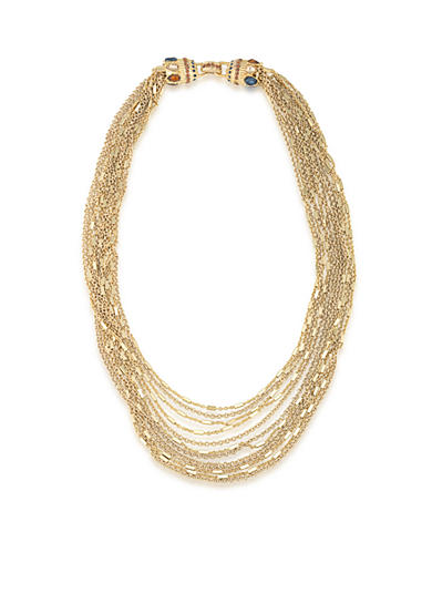 Carolee Gold-Tone Nine to Five Multistrand Chain Link Necklace