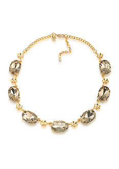 Carolee Gold-Tone Metropolitan Club Stone Collar Necklace