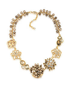 Carolee Gold-Tone Metropolitan Club Flower Frontal Necklace