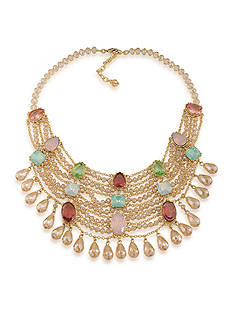 Carolee Gold-Tone Cosmopolitan Club Statement Necklace