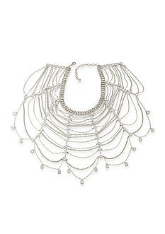 Carolee Silver-Tone Marquee Collar Necklace