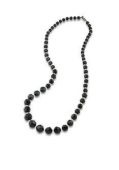 Carolee Hematite-Tone Soho House Black and White Graduated Necklace