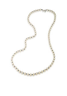 Carolee Soho House White and Blue Rope Necklace