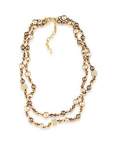 Carolee Gold-Tone Metropolitan Club Two Row Necklace