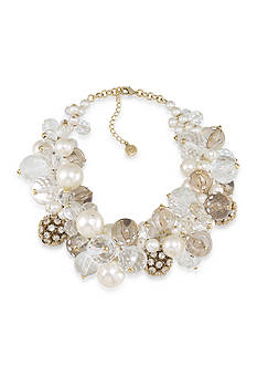 Carolee Gold-Tone LUX Collection Barcelona Baubles Dramatic Cluster Necklace