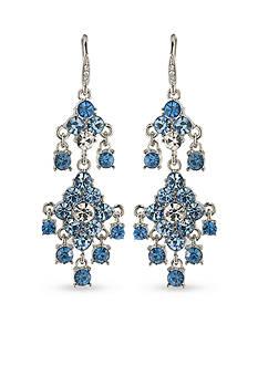 Carolee Something Blue Chandelier Pierced Earrings