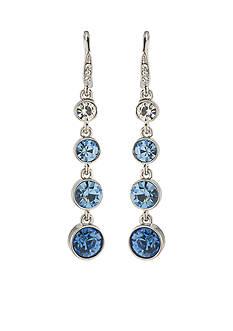 Carolee Something Blue Linear Drop Pierced Earrings