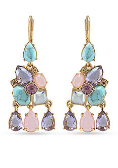 Carolee Gold-Tone The Hamptons Stone Chandelier Earrings