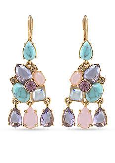 Carolee Gold-Tone The Hamptons Stone Chandelier Earrings