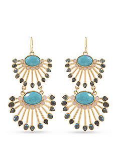 Carolee Observation Deck Chandelier Gold-Tone Pierced Earrings