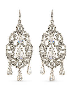 Carolee Silver-Tone Washington Square Chandelier Earrings