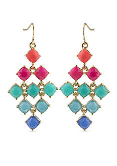Carolee Coney Island Chandelier Earrings