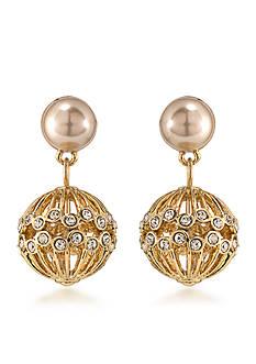 Carolee Union Square Double Drop Pierced Earrings