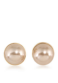Carolee Union Square 10-mm. Suede Pearl Pierced Earrings