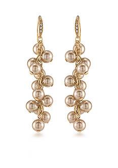 Carolee Union Square Linear Cluster Pierced Earrings