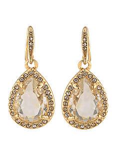 Carolee Gold-Tone Columbus Circle Teardrop Earrings