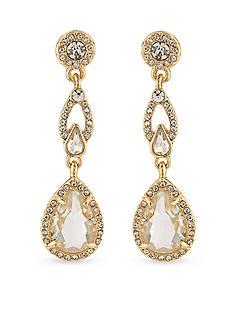 Carolee Gold-Tone Columbus Circle Linear Earrings