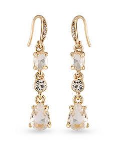 Carolee Gold-Tone Columbus Circle Triple Drop Earrings