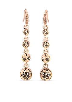 Carolee Rose Gold-Tone Pocket Park Linear Drop Earrings