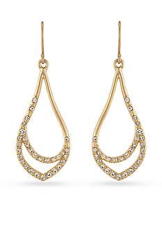 Carolee Gold-Tone Riverside Park Drop Earrings