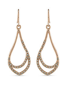 Carolee Rose-Gold Tone Rose All Day Gypsy Earrings