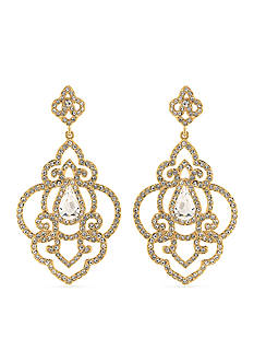 Carolee Gold-Tone Bryant Park Chandelier Earrings