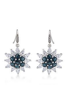 Carolee Prospect Park Cluster Drop Pierced Earrings