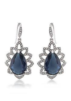 Carolee Prospect Park Blue Teardrop Earrings