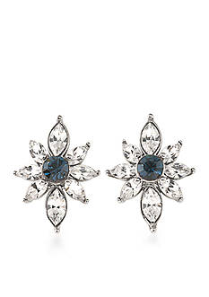 Carolee Silver-Tone New York Star Stud Earrings