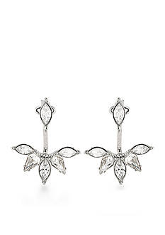 Carolee Silver-Tone New York Star Ear Jacket Earrings
