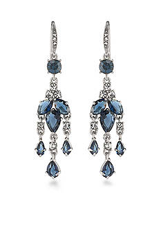 Carolee Silver-Tone New York Star Mini Chandelier Earrings