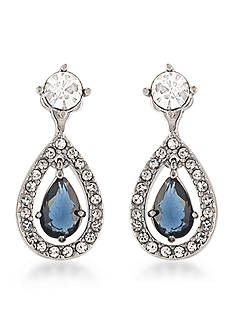 Carolee Silver-Tone New York Star Drop Earrings