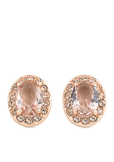 Carolee Rose Gold-Tone Pocket Park Button Earrings