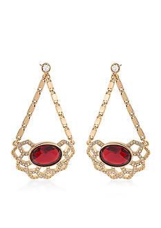 Carolee Gold-Tone Big Apple Drop Earrings