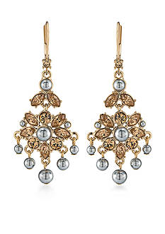 Carolee Gold-Tone West Side Mini Chandelier Earrings