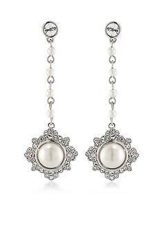Carolee Silver-Tone Waldorf Linear Earrings