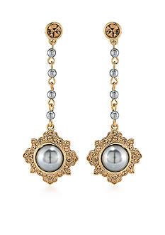 Carolee Gold-Tone West Side Linear Earrings