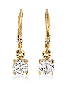 Carolee Gold-Tone The Apollo Round Drop Earrings