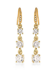 Carolee Gold-Tone Apollo Triple Drop Earrings