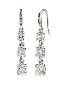 Carolee Silver-Tone East Side Triple Drop Earrings