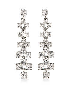 Carolee Silver-Tone East Side Linear Earrings