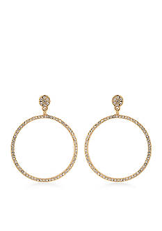 Carolee The Apollo Gypsy Hoop Pierced Earrings