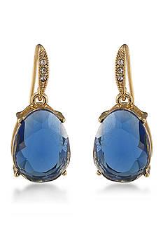 Carolee Gold-Tone Nine to Five Blue Drop Earrings