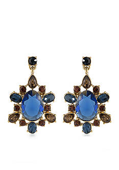 Carolee Gold-Tone Nine to Five Drop Earrings