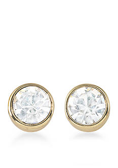 Carolee Gold-Tone Apollo Stone Stud Earrings