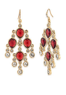 Carolee Gold-Tone Big Apple Chandelier Earrings