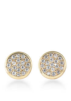 Carolee Gold-Tone Apollo Pave Stud Earrings